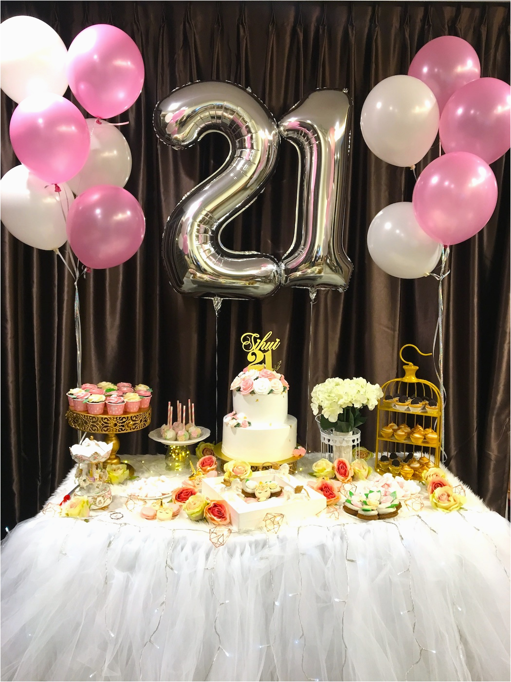 21st birthday decoration