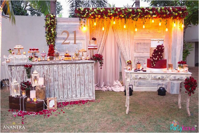 21 Birthday Party Decoration Ideas Kara 39 S Rustic Vintage 21st