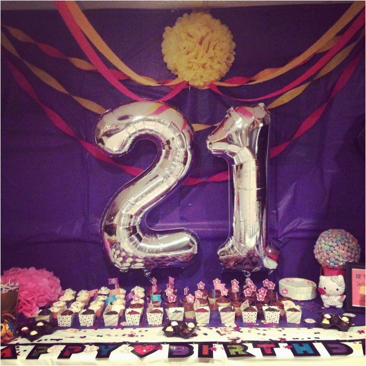 21 Birthday Table Decorations