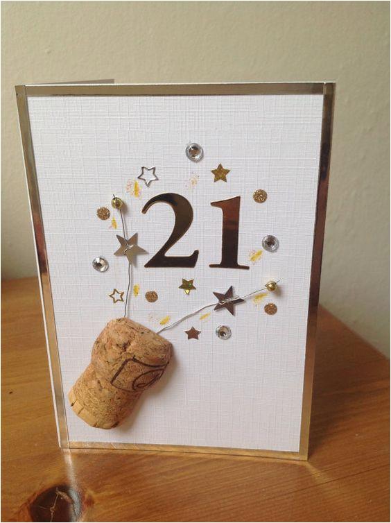 21st Birthday Card Ideas for A Boy 21st Birthday Card Champagne Celebrations Verjaardag