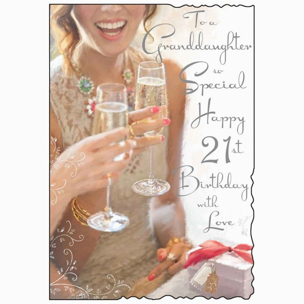 to a granddaughter so special 21st birthday card