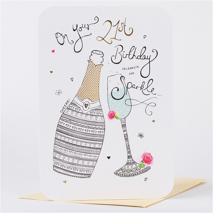 21st birthday card celebrate sparkle only 99p