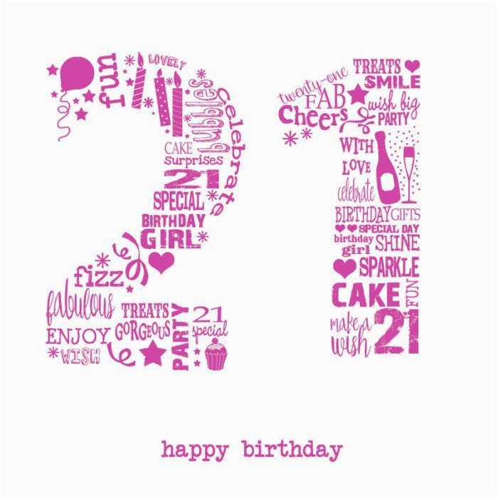 21st Birthday Cards For Her Happy Wishes Pictures Latest Collection Of