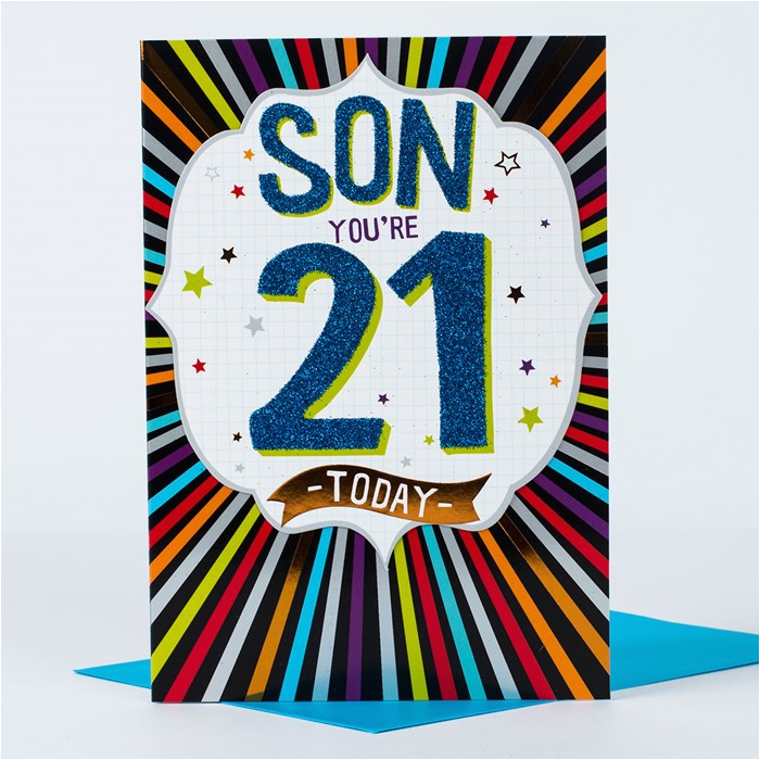 21st birthday card fantastic son only 1 29