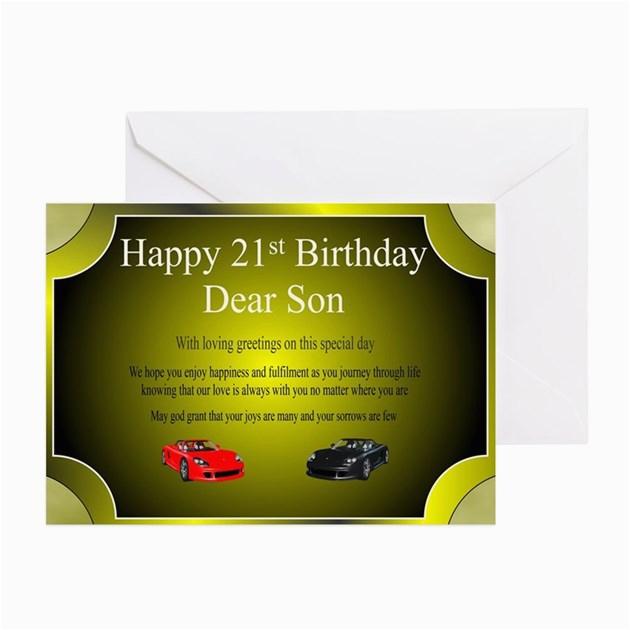 21st birthday card son greeting cards by vigorgifts