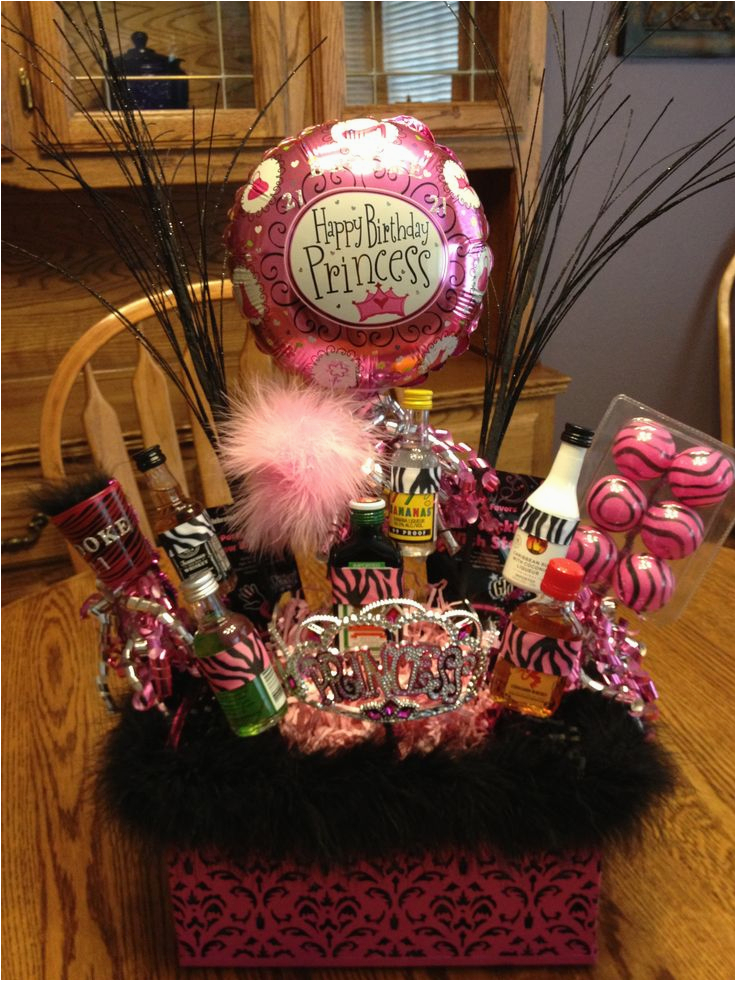 21st Birthday Gift Basket Ideas For Her Holidays Celebrations Pinterest