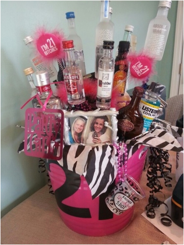 21st Birthday Gift Baskets For Her Best And Cute Ideas Invisibleinkradio