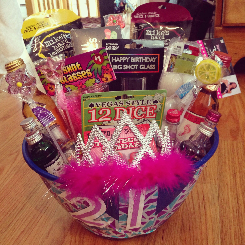 21st Birthday Gift Baskets For Her Diy Ideas Lacalabaza