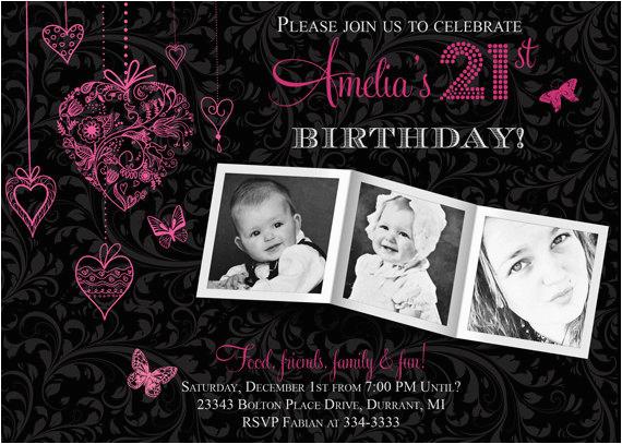 21st Birthday Invitation Templates Free Ideas Printable
