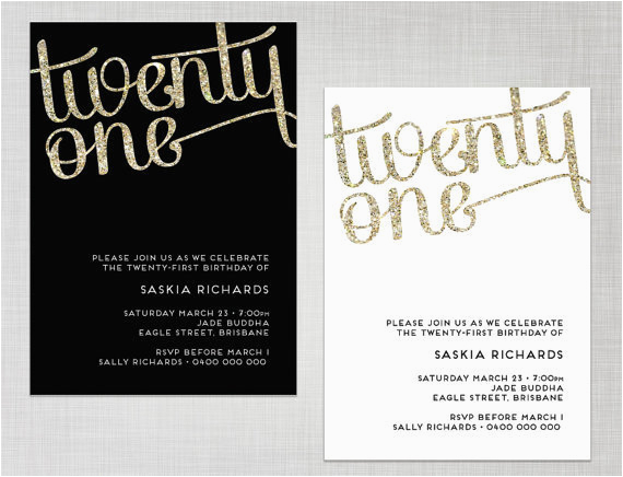 21st birthday invite templates free