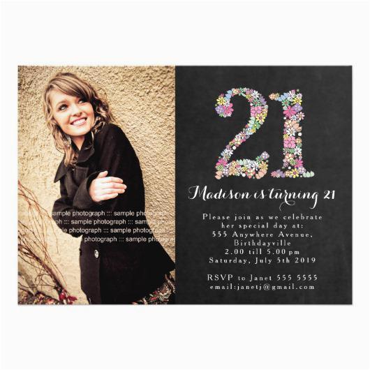 21st Birthday Invitations for Girls 21st Birthday Party Invitations Invitations 4 U