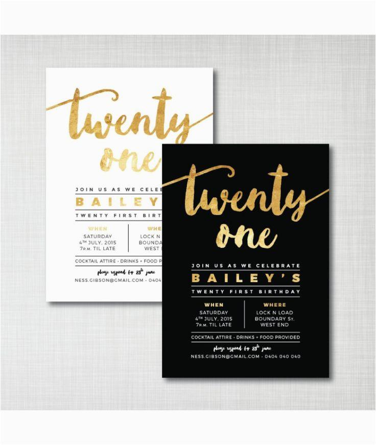 Best 25 21st Birthday Invitations Ideas