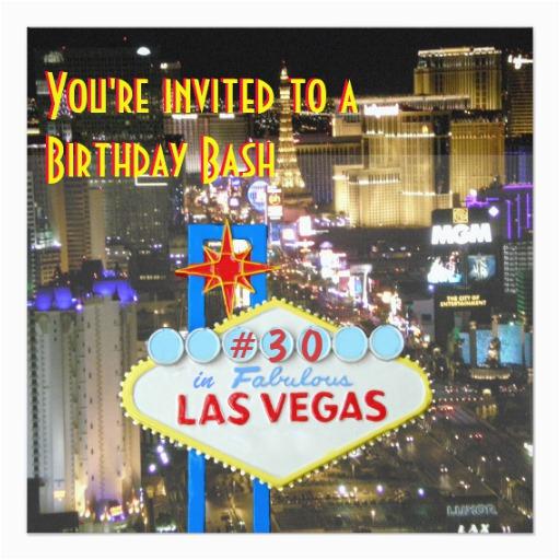 21st Birthday Vegas Invitations Las Party 30th Card Zazzle