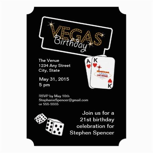vegas lights 21st birthday party invitation 161048059306312033