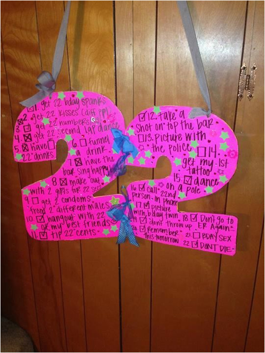 22nd birthday sign things to do on your birthday what