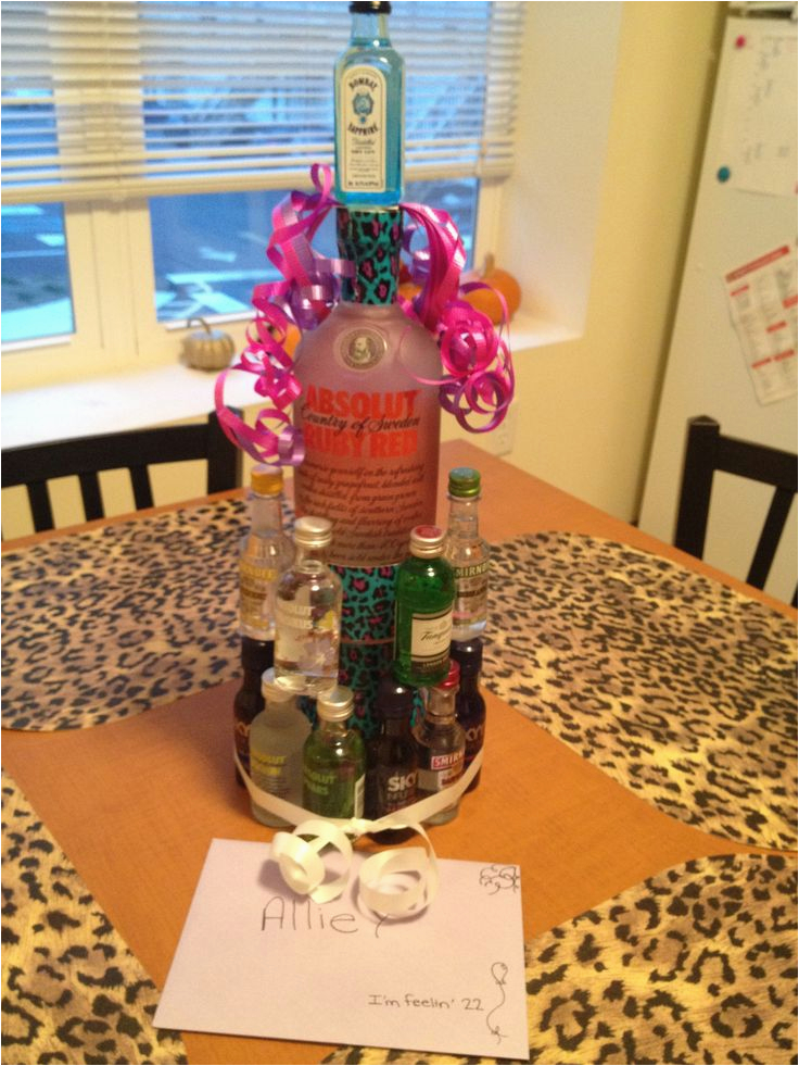 22nd Birthday Gift Ideas For Her Alcohol Nipper Cake A Friends We Did This