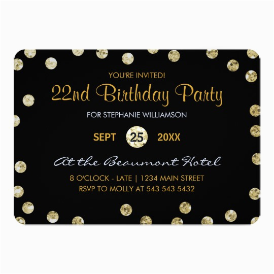 22nd Birthday Party Invitations 40th Birthday Invitations Announcements Zazzle Co Uk