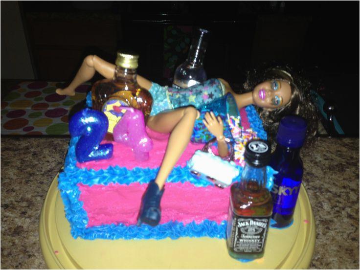 homemade drunk barbie 24th birthday cake food