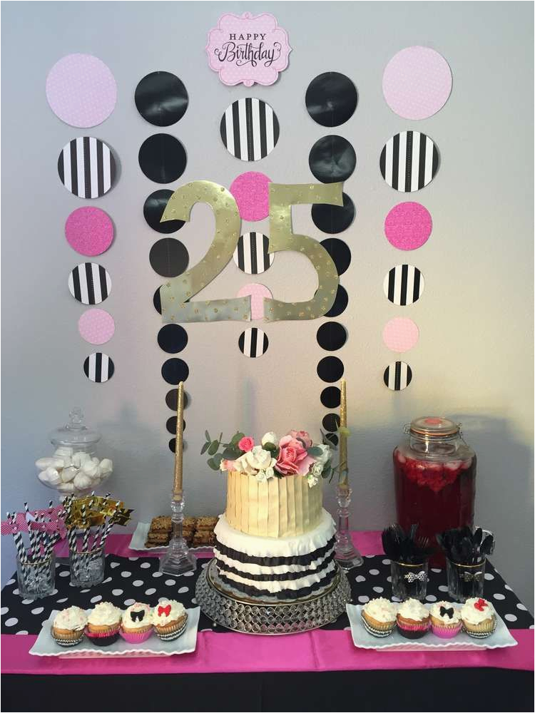 25th Birthday Decorations For Her Party Ideas Parties