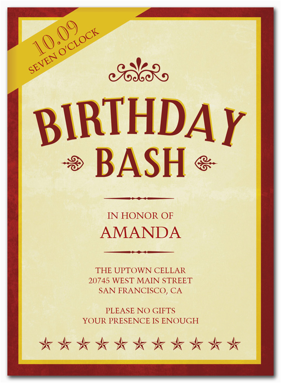 25th Birthday Invitation Templates Wording Cimvitation