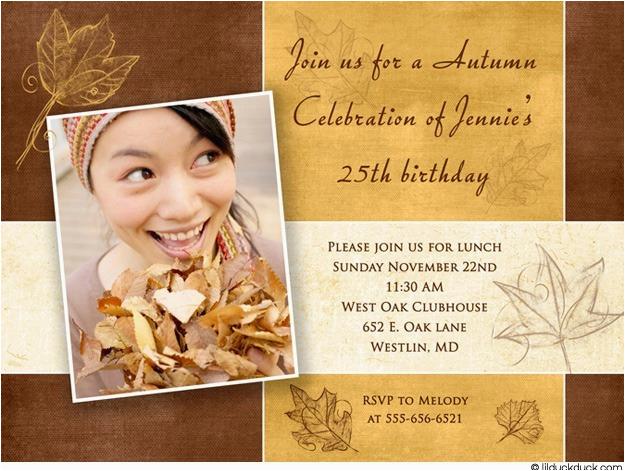 25th birthday invitations