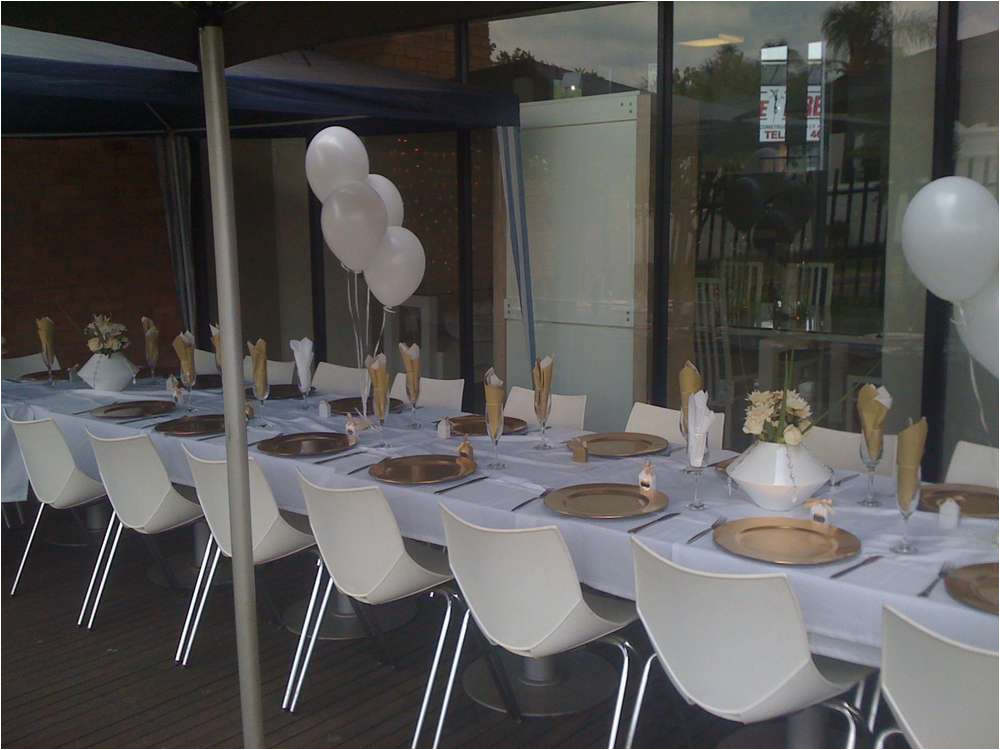 25th Birthday Party Decorations Gold And White Ideas Photo 1 Of 5 Catch
