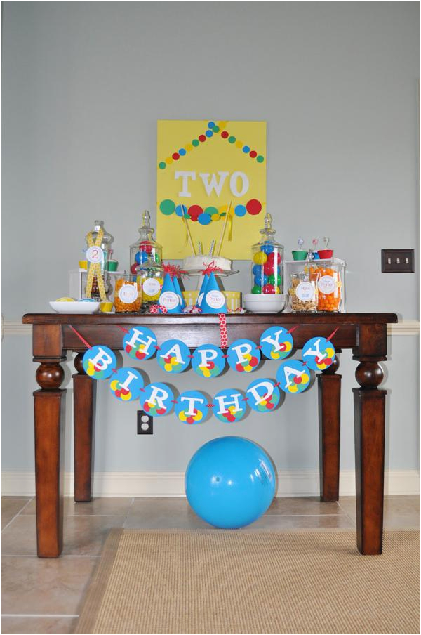 2nd Birthday Decorations For Boy Kara 39 S Party Ideas Ball Toy