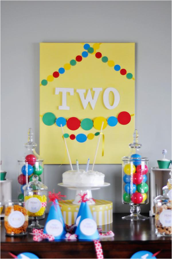 ball themed 2nd birthday party