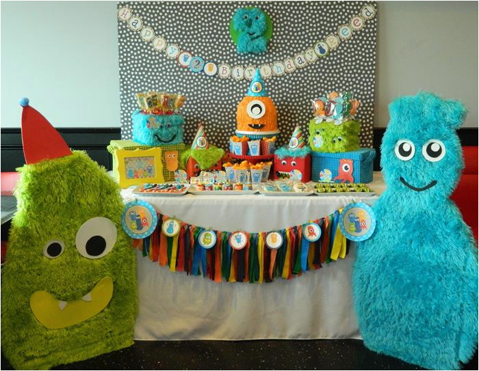 2nd Birthday Decorations For Boy Kara 39 S Party Ideas Monster Bash Themed