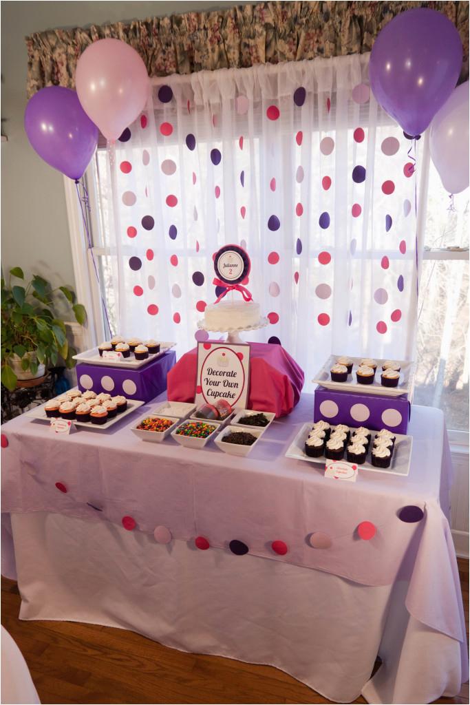 cupcakes and polka dots 2nd birthday party