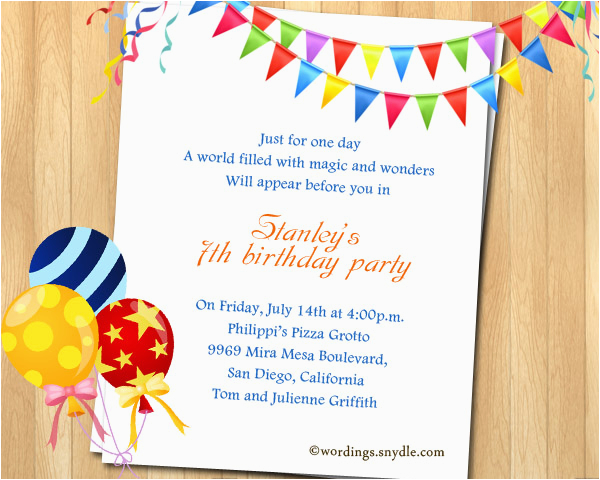 2nd Birthday Invitation Wording Samples Party Best Happy