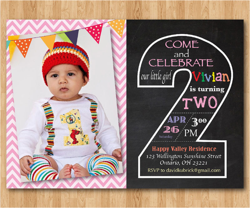 2nd Birthday Invitation Wording Samples Invites Invitations Printable