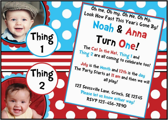 2nd Birthday Invitations For Twins Twin 39 S 1st Pinterest Birthdays