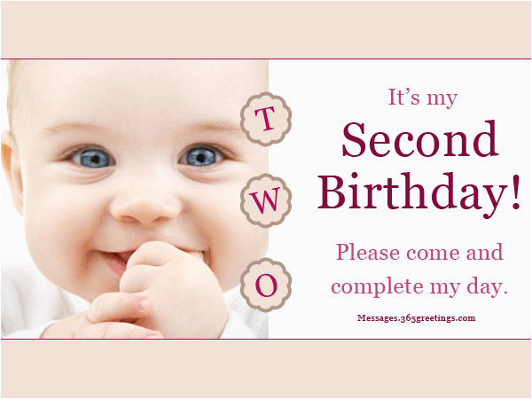 2nd Birthday Invite Wording 2nd Birthday Invitations and Wording 365greetings Com