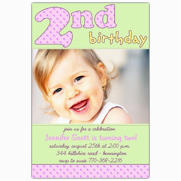 2nd birthday pink invitations p 610 46 081p