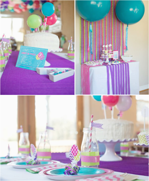 balloon pop themed 2nd birthday party