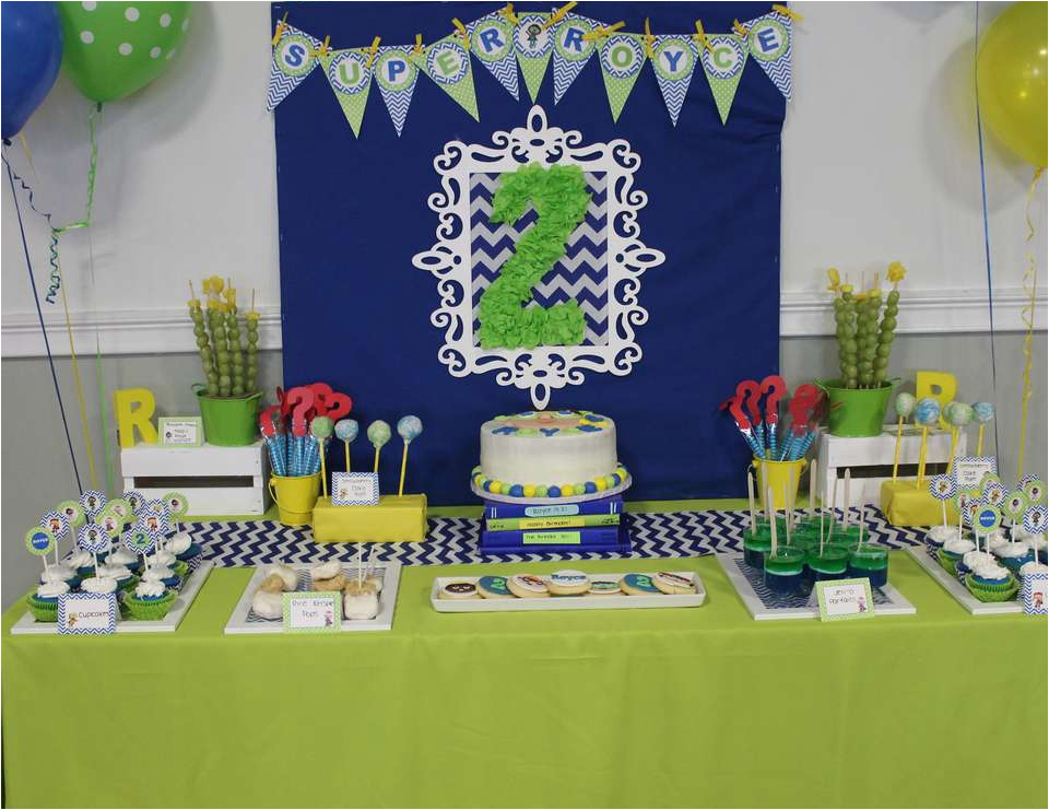 Royces Stylish Super Why 2nd Birthday Party