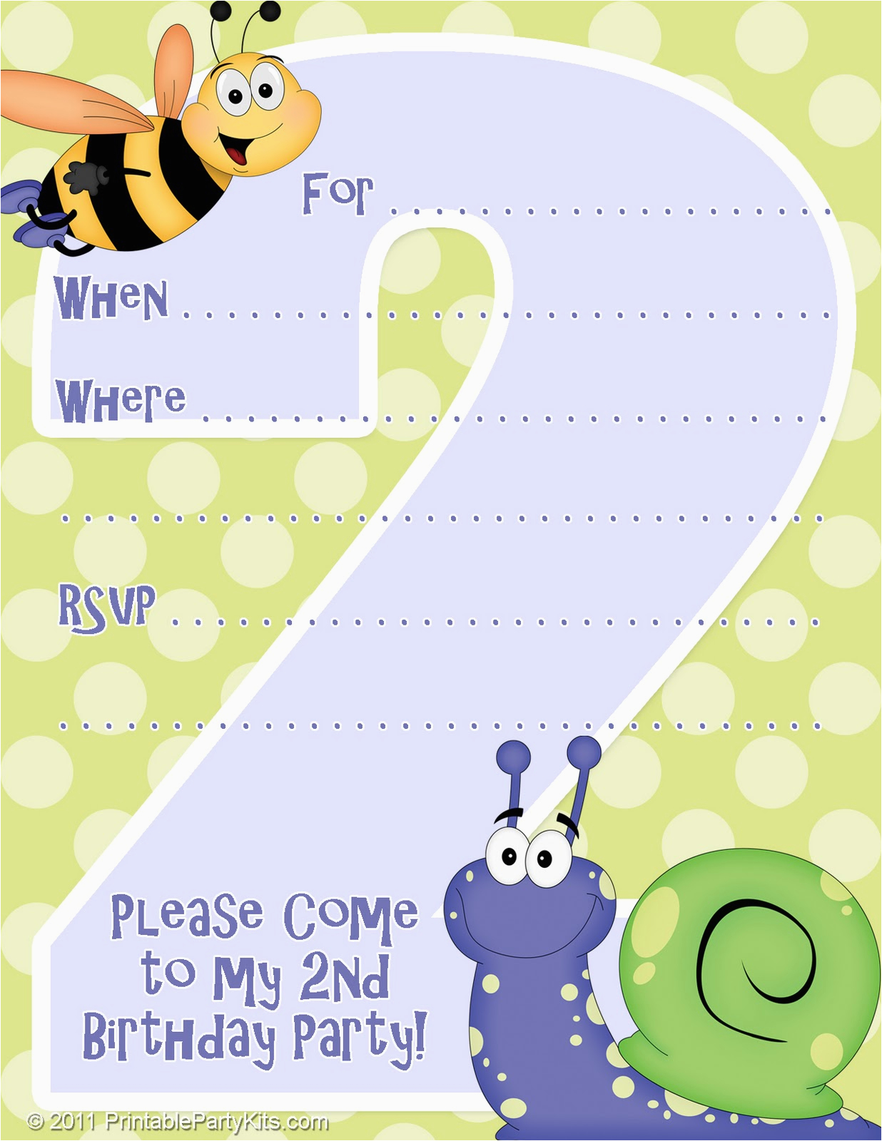 2nd Birthday Party Invites Free Printable Invitations Invitation Template For