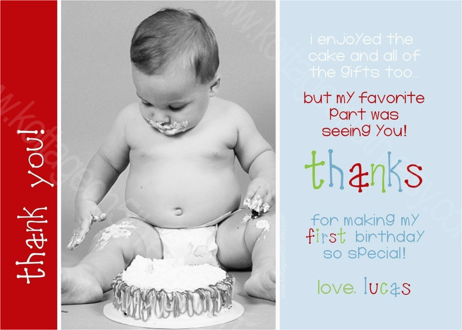 items similar to coordinating thank you card to birthday
