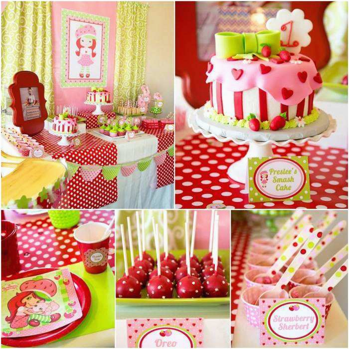 3 Year Old Birthday Party Decorations Strawberry Shortcake Ideas