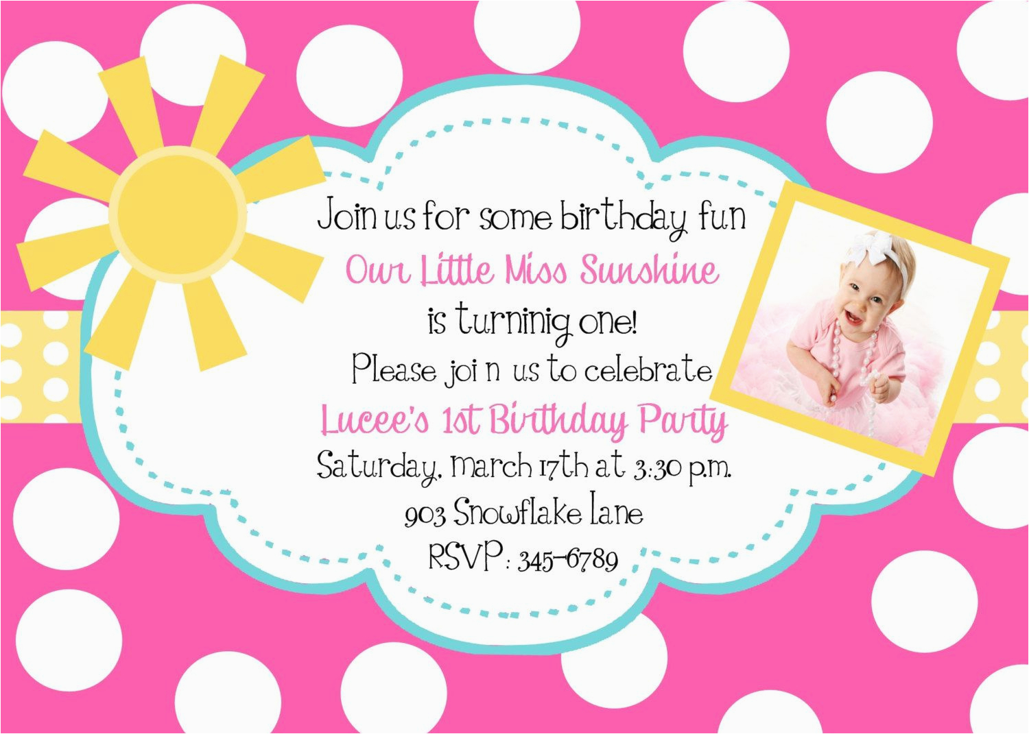 3 Year Old Birthday Party Invitation Wording Card