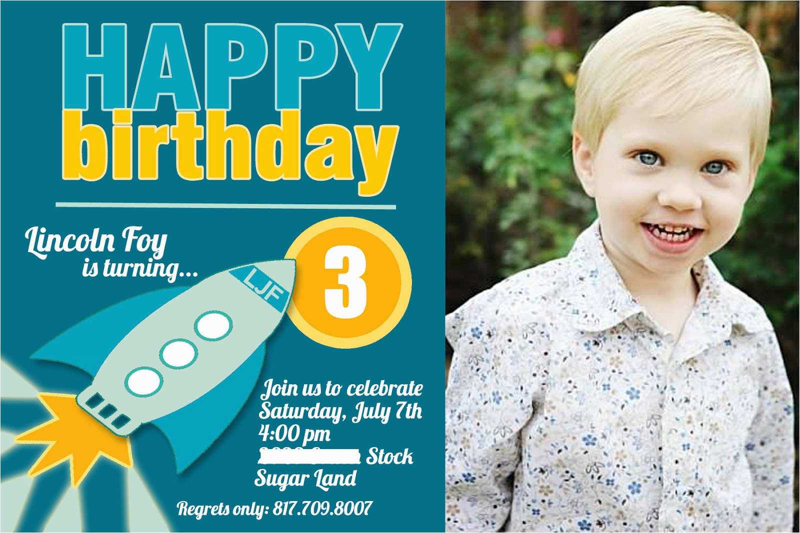 3 Year Old Birthday Party Invitation Wording Invitations 8 Boy