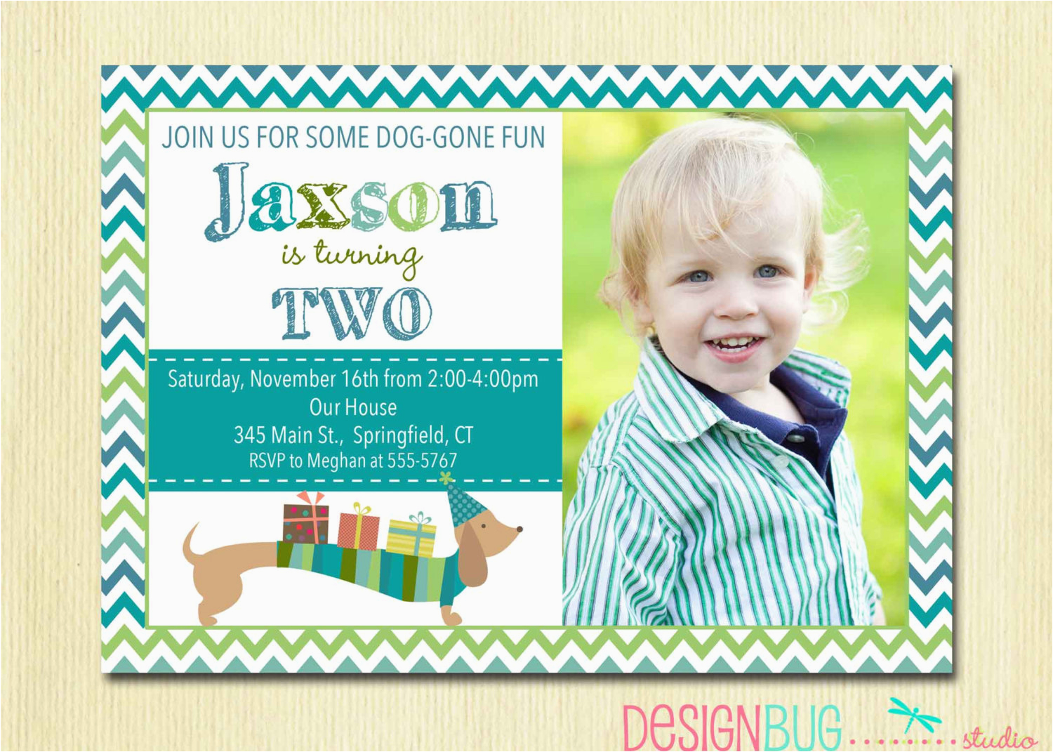 birthday invitation for 3 year old boy