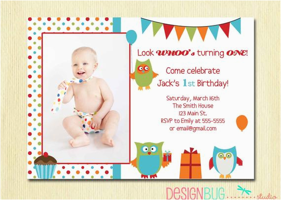 3 Year Old Boy Birthday Party Invitations Items Similar To Owl Invitation First