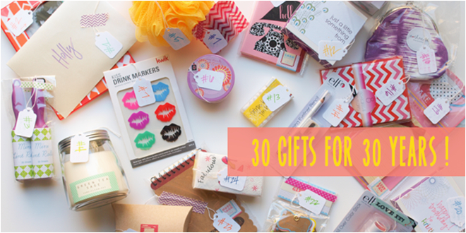 30 gifts for 30 years modish main