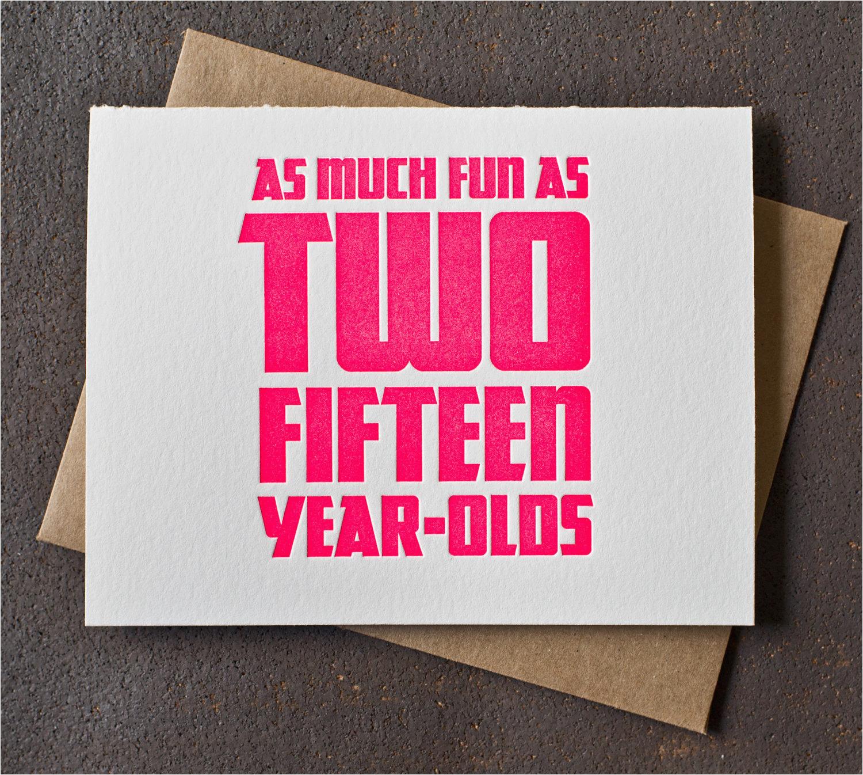 30th birthday card neon pink fun as two