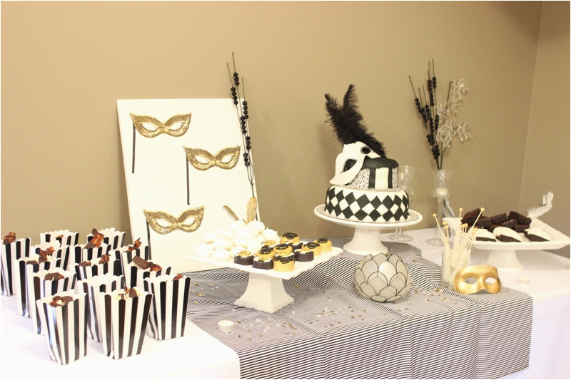 30th Birthday Decorations Black And White Masquerade Party Bash Melissa Creates