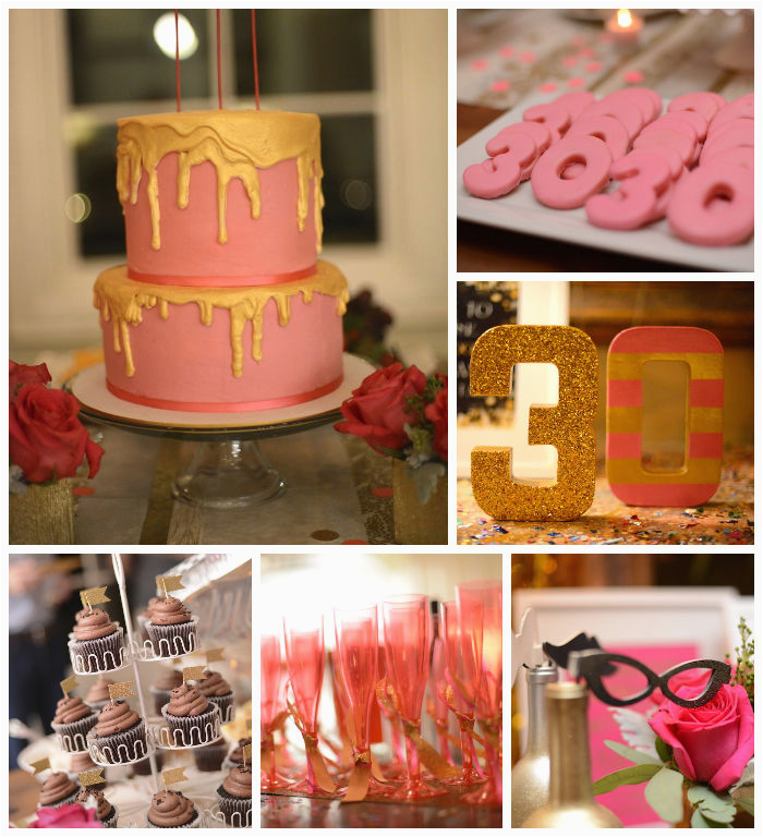30th Birthday Decorations Pink Kara 39 S Party Ideas Pink Gold and Old 30th Birthday Party