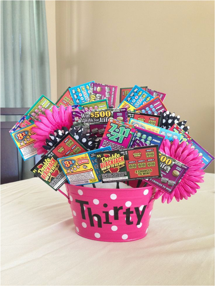 30th Birthday Gift Baskets For Her 17 Best Images About Lottery Ticket Bouquets On Pinterest