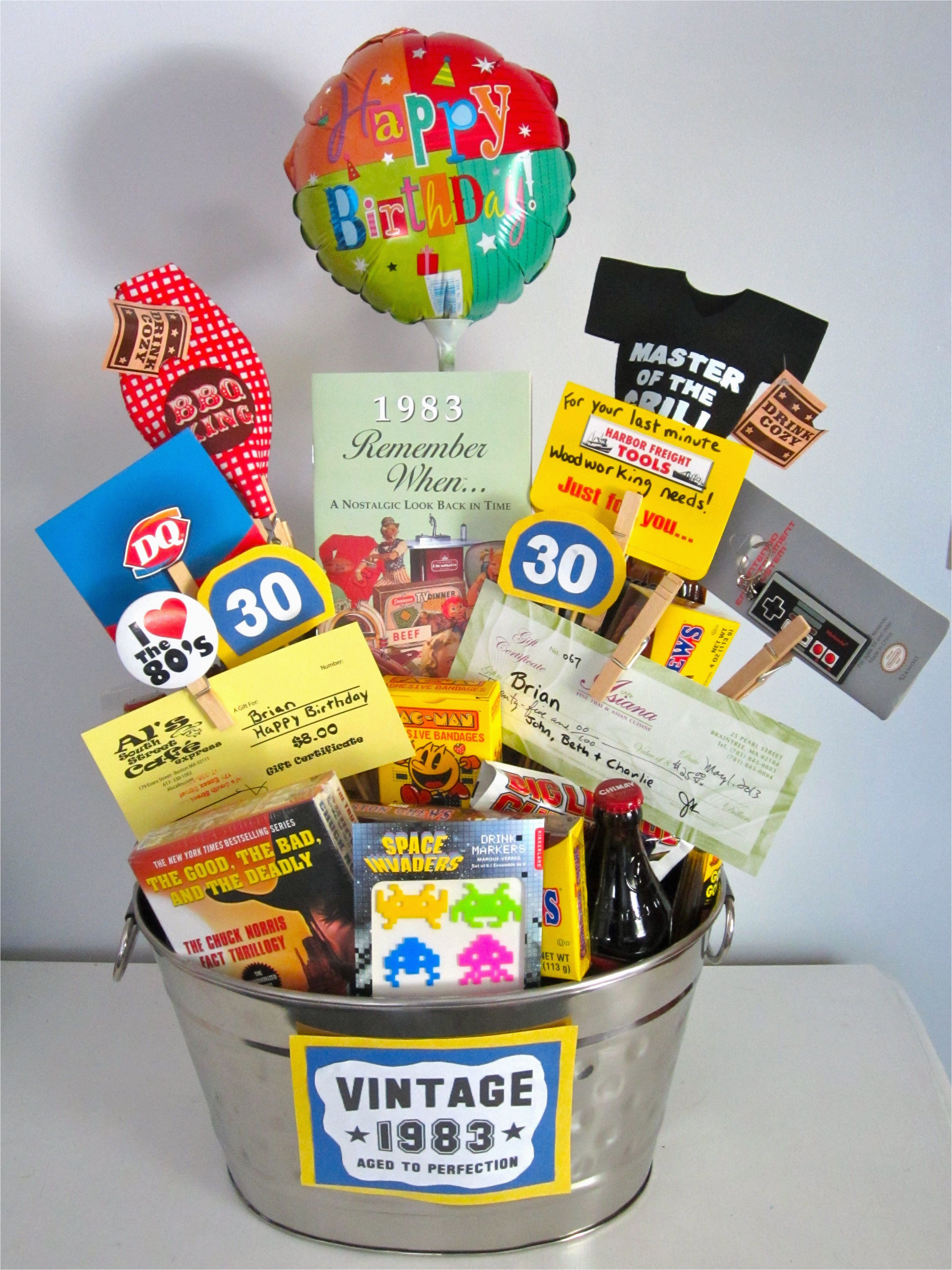 30th Birthday Gift Baskets For Her I Made My Brother Filled It